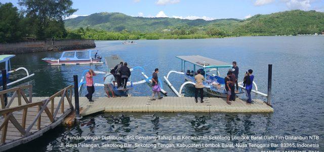 UPTD.BPSB Pertanian melakukan pendampingan distribusi JPS Gemilang Tahap II di Kecamatan Sekotong Kabupaten Lombok Barat - NTB