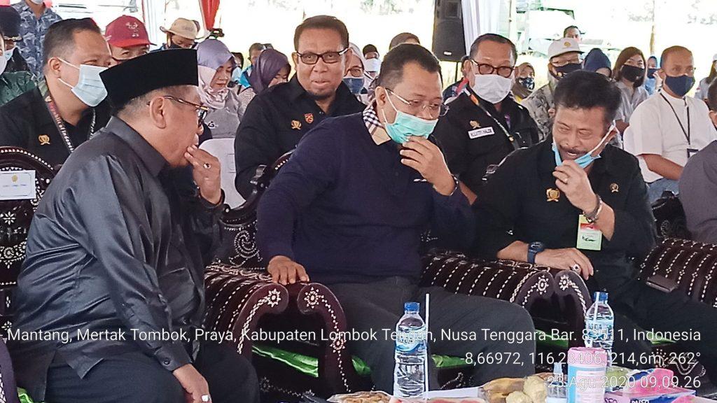 Kunjungan Menteri Pertanian ke Kabupaten Lombok Tengah didampingi oleh Gubernur NTB dan Bupatei Lombok Tengah