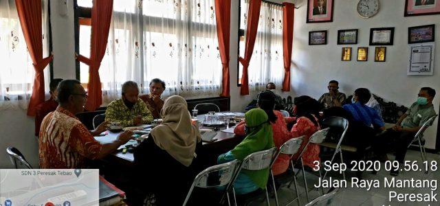 Rapat intern lintas Seksi dalam rangka koordinasi dan percepatan realisasi pelaksanaan kegiatan di UPTD.BPSB-P NTB di akhir triwulan III Tahun 2020