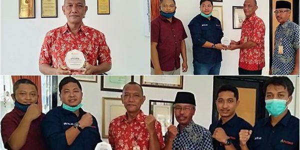 Piagam Penghargaan untuk BPSB NTB dari PT.Pertani Cabang NTB untuk kerjasama yang baik dalam penyedian benih bantuan Tahun 2020